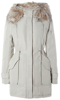 White Stuff Tay Long Sleeve Parka Coat, Silver