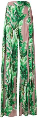 AMIR SLAMA Printed Wide Leg Trousers