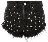 Topshop MOTO Star Studded Denim Kiri Mini Shorts