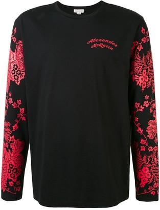 Alexander McQueen floral-print long-sleeved T-shirt