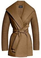 Thumbnail for your product : Sentaler Rib-Sleeve Wool & Alpaca Wrap Coat