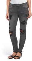 Juniors Studded Boyfriend Jeans