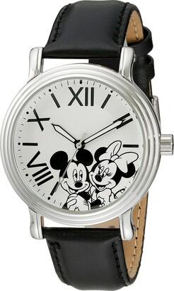 Disney Women's W001860 Mickey & Minnie Analog Display Analog Quartz Black Watch