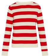 Holiday Boileau - X Editions M.r Intarsia Striped Wool Sweater - Mens - Red