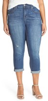 Melissa McCarthy Plus Size Women's Stretch Crop Jeans