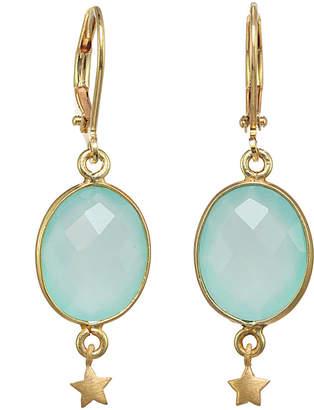 Rachel Reinhardt Gold Over Silver Chalcedony Drop Earrings