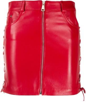 Manokhi Daisy zipped mini skirt