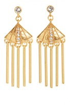 Gerard Yosca Fan Fringe Crystal Earrings