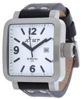 Jet Set Men's Quartz Watch with Black Dial Analogue Display Quartz Leather J27591 117