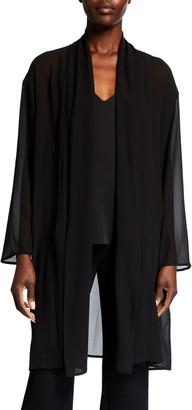 Eileen Fisher Petite Sheer Silk Georgette Kimono Jacket