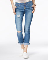 Dollhouse Juniors' Ripped Cropped Skinny Jeans