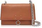 Jil Sander Open Brown Leather Small Ring Shoulder Bag