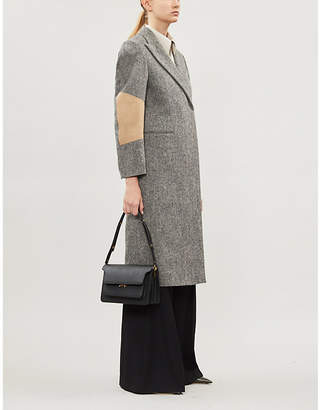 Victoria Beckham Block-sleeves wool and cotton-blend coat