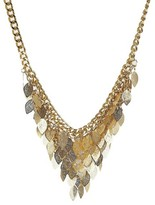 N by nOir Women's Kite Leaf Statement Necklace Measuring 18 inches plus a 3 inch extender - Gold