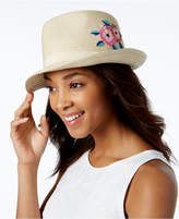 INC International Concepts Embroidered Panama Hat, Only at Macy's