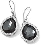 Ippolita Stella Teardrop Earrings in Hematite & Diamonds, 34mm