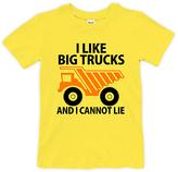 Urban Smalls Yellow 'I Like Big Trucks' Tee - Toddler & Boys