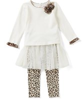 Starting Out Baby Girl 3-9M Leopard Print Top & Tutu Overlay Pant Set