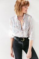 BDG Nelly Plaid Button-Down Shirt