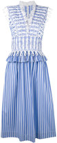 Ermanno Scervino waist detail striped dress - women - Cotton - 40