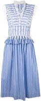 Ermanno Scervino waist detail striped dress - women - Cotton - 40