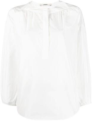 Odeeh Gathered Collarless Shirt