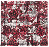 Burberry Beasts print and check scarf