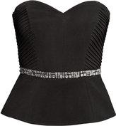 H&M Strapless Top - Black - Ladies