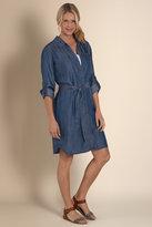 Soft Surroundings Women's Tencel Denim Shirtdress - Forged Iron