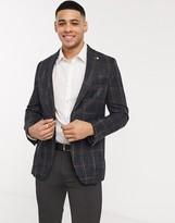 Burton Menswear London Mens Navy Jersey Pique Blazer