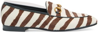 Gucci Women's Jordaan loafer with zebra print