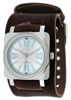 Nemesis #BIN063S Men's Premium Wide Leather Casual Watch