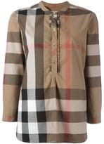 Burberry house check print shirt