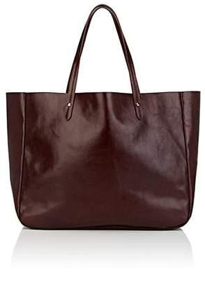 Barneys New York Women's Leather Shopper Tote - Wine