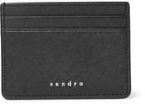 Sandro Cross-grain Leather Cardholder - Black