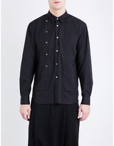 Comme Des Garcons Homme Plus Double Button-detail Regular-fit Cotton Shirt