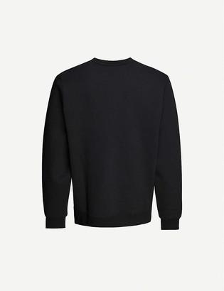 Stussy Logo-embroidered cotton-blend jersey sweatshirt