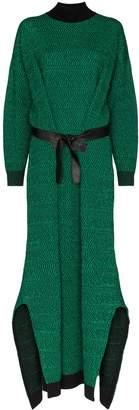 Stella McCartney Belted Knit Long Dress