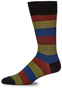 Paul Smith Men's Colorblock Stripe Mid-Calf Socks