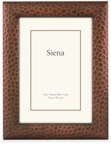 Siena Metallics 4-Inch x 6-Inch Hammered Design Frame in Brushed Copper