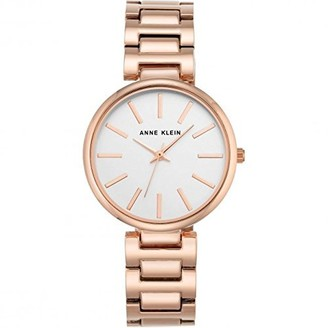 Anne Klein Women's Nora Quartz Watch with White Dial Analogue Display and Rose Gold Metal Bracelet AK/N2786SVRG
