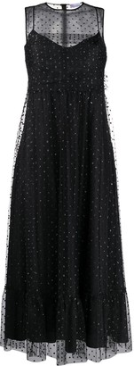 RED Valentino Embellished Tulle Long Dress