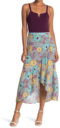 BCBGeneration Printed Wrap Maxi Skirt