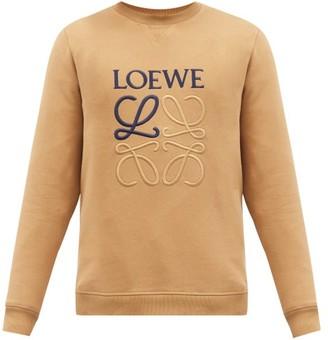 Loewe Anagram-embroidered Cotton-jersey Sweatshirt - Brown