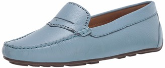 Driver Club Usa Women's Leather Made in Brazil Perforated Penny Detail Driver Loafer