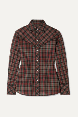 Nili Lotan Ada Checked Cotton-voile Shirt - Red