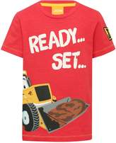 M&Co JCB ready set lets get digging slogan t-shirt