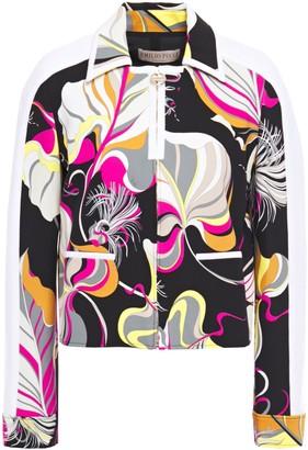 Emilio Pucci Paneled Printed Ponte Jacket