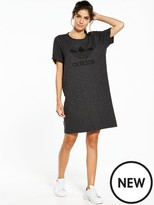adidas Trefoil Tee Dress - Black Melange