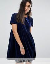 Reclaimed Vintage Velvet Smock Dress